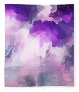 Stormy Purple Fleece Blanket
