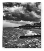 Stormy Southwold Fleece Blanket