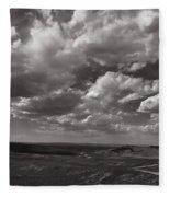 Stormy Wyoming Sky Fleece Blanket