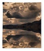 Strange Clouds Reflected Fleece Blanket
