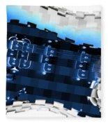 Abstract Guitar In Blue Fleece Blanket