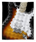 Classic Guitar Abstract 2 Fleece Blanket