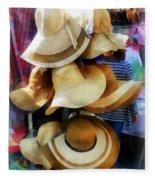 Straw Hats Fleece Blanket