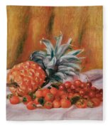 Strawberries And Pineapple Fleece Blanket