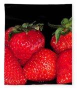 Strawberries Fleece Blanket