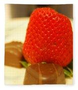 Strawberry And Chocolate Fleece Blanket
