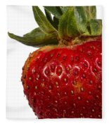 Strawberry Close Up No.0011 Fleece Blanket