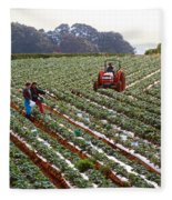 Strawberry Farm Fleece Blanket