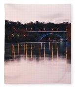 Strawberry Mansion Bridge At Dusk Fleece Blanket