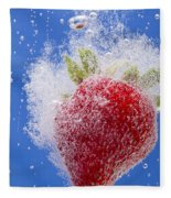 Strawberry Soda Dunk 1 Fleece Blanket