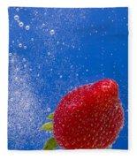 Strawberry Soda Dunk 4 Fleece Blanket