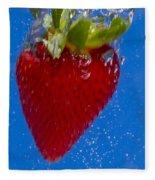 Strawberry Soda Dunk 7 Fleece Blanket