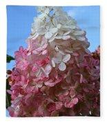 Strawberry Vanilla Hydrangea Fleece Blanket