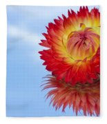 Strawflower Reflection Fleece Blanket