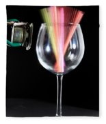 Straws In A Glass At Resonance Fleece Blanket