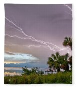 Streak Lightning Fleece Blanket