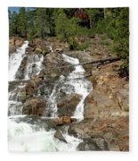 Streaming Glen Alpine Falls Fleece Blanket