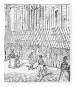 Street Advertising, 1842 Fleece Blanket