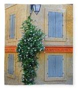 Street Corner In Provence Fleece Blanket