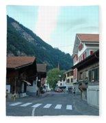 Street In Interlaken In Switzerland Fleece Blanket