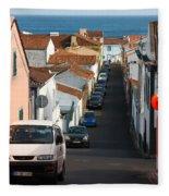 Street In Lagoa - Azores Fleece Blanket
