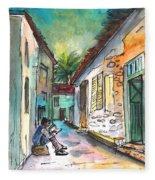 Street Life In Nicosia Fleece Blanket