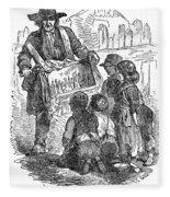 Street Musician, 1850 Fleece Blanket