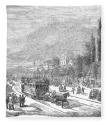 Street Railway, 1853 Fleece Blanket