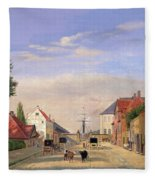 Street Scene Fleece Blanket