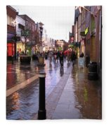 Street Scene Outside Windsor Castle Fleece Blanket