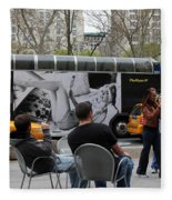 Streets Of New York 5 Fleece Blanket