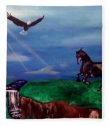 Strenght And Flight Fleece Blanket