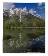 String Lake Panorama Fleece Blanket