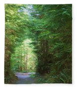 Stroll Through The Quinault Rain Forest Fleece Blanket