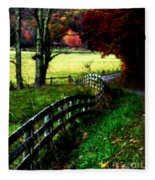 Strolling Down The Old Country Road Fleece Blanket