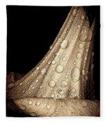 Study In Brown Fleece Blanket