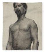 Study Of A Negro Man Fleece Blanket