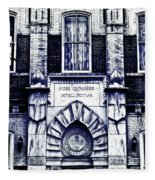 Study Of One Of The Oldest Catholic Churches In New Orleans Fleece Blanket