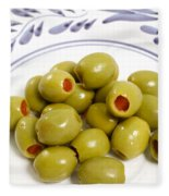 Stuffed Green Olives Fleece Blanket