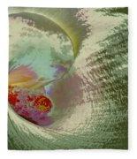 Stylized Calla Lily Fleece Blanket