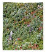 Subalpine Wildflowers Fleece Blanket