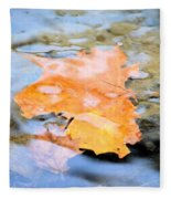 Submerged Sunset Fleece Blanket