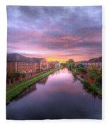 Suburban Sunrise 1.0 Fleece Blanket