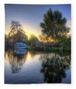 Suburban Sunrise 2.0 Fleece Blanket