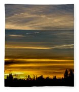 Suburban Sunrise Fleece Blanket