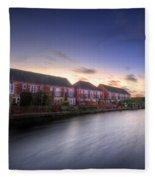 Suburban Sunset 3.0 Fleece Blanket