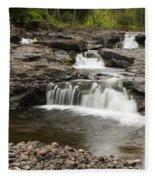 Sucker River Falls 2 A Fleece Blanket