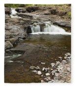 Sucker River Falls 2 E Fleece Blanket