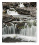 Sucker River Falls 2 F Fleece Blanket