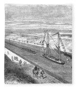 Suez Canal, 1868 Fleece Blanket